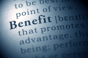 Graphic representation of the SSI benefits that are available to recipients