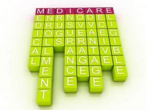 The word Medicare spelled in red blocks