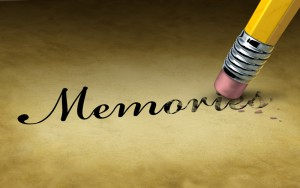 Memories being erased due to dementia or Alzheimers