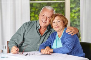 Couple looking for a retirement home