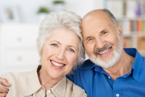 Man and a woman who are retired and looking for a new house or community