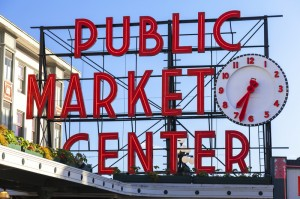 Seattle Pike's Market and the Public Market Sign