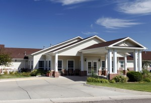 Nice shot of a skilled nursing facility
