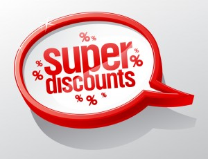 A listing of available discounts for older people