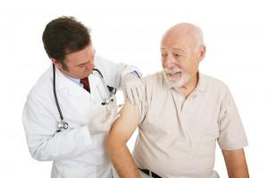 Man Getting A Flu Shot