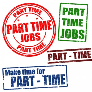 Several Part Time Job Stamps and Graphics