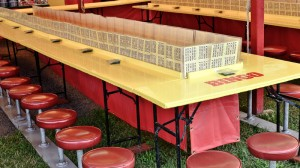 Picture of a very large bingo parlor setup for players