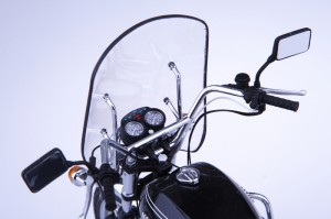 Nice motorcycle with a windshield