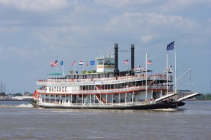 Riverboat Natchez cruising the Mississippi River
