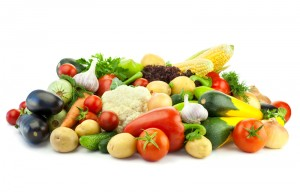 Fresh vegetables laying on a table