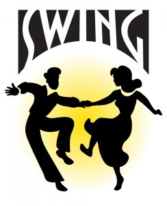Picture showing a couple swing dancing