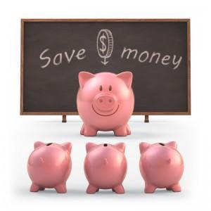 Piggy banks used for saving money