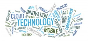 Technological words like innovation, apps, futuristic, etc.