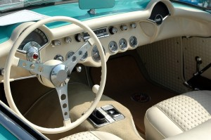 Car that has had the complete inside interior restored in a beautiful light coffee color